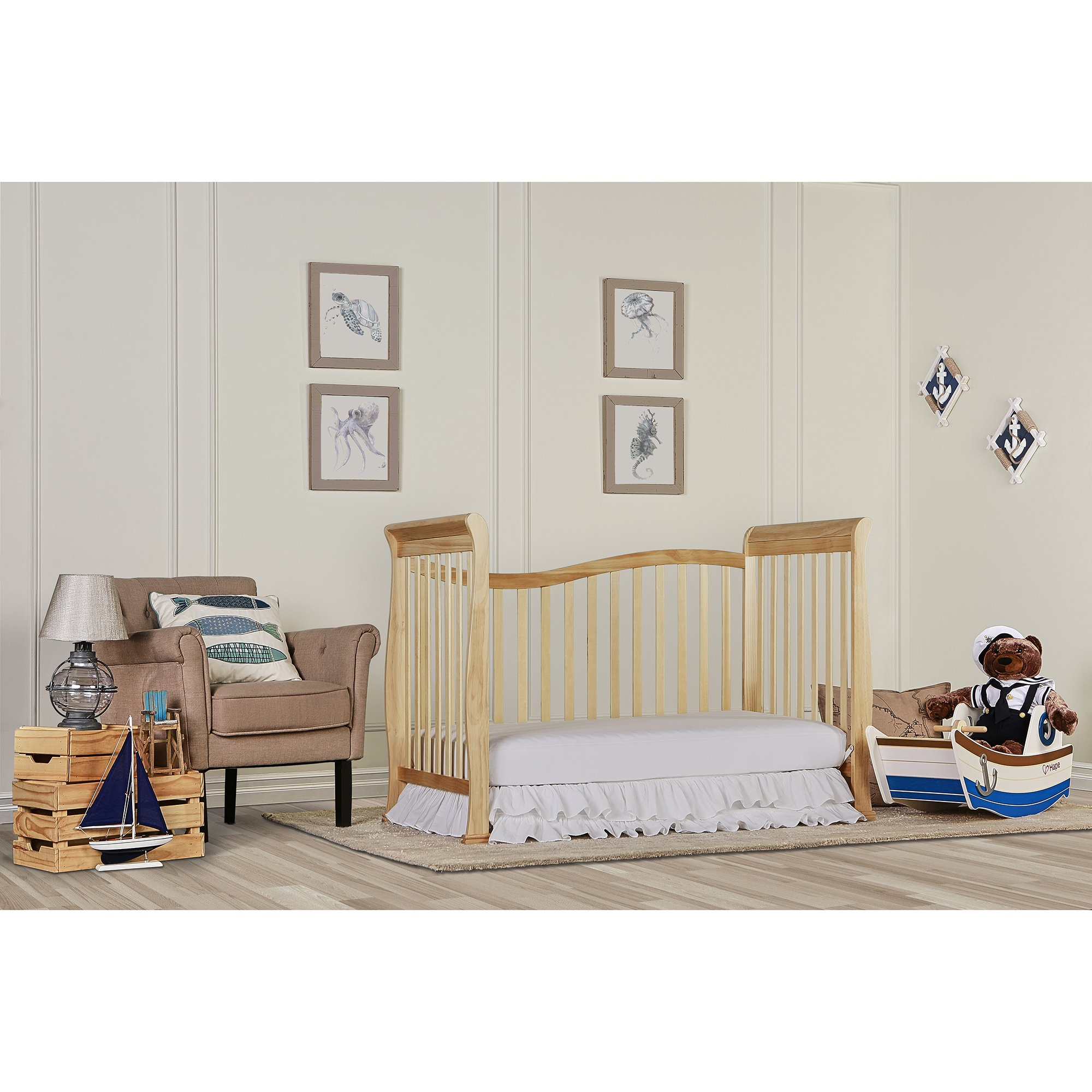 Dream On Me Violet 7 in 1 Convertible Life Style Crib, Natural by Dream On Me (Image #4)