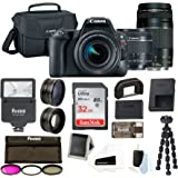 Canon EOS Rebel SL2 Digital Camera: 24 Megapixel 1080p HD Video DSLR Bundle with 18-55mm & 75-300mm Lens 32GB SD Card Tripod Filter Kit Flash & Bag - Professional Vlogging Sports & Action Camera