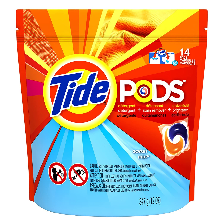 Tide Pods Laundry Detergent Ocean Mist Scent 14 CT (Pack of 12): Amazon.com: Grocery & Gourmet Food