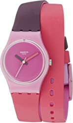 Swatch Womens LP137 Fun In Pink Analog Display Quartz Multi-Color Watch