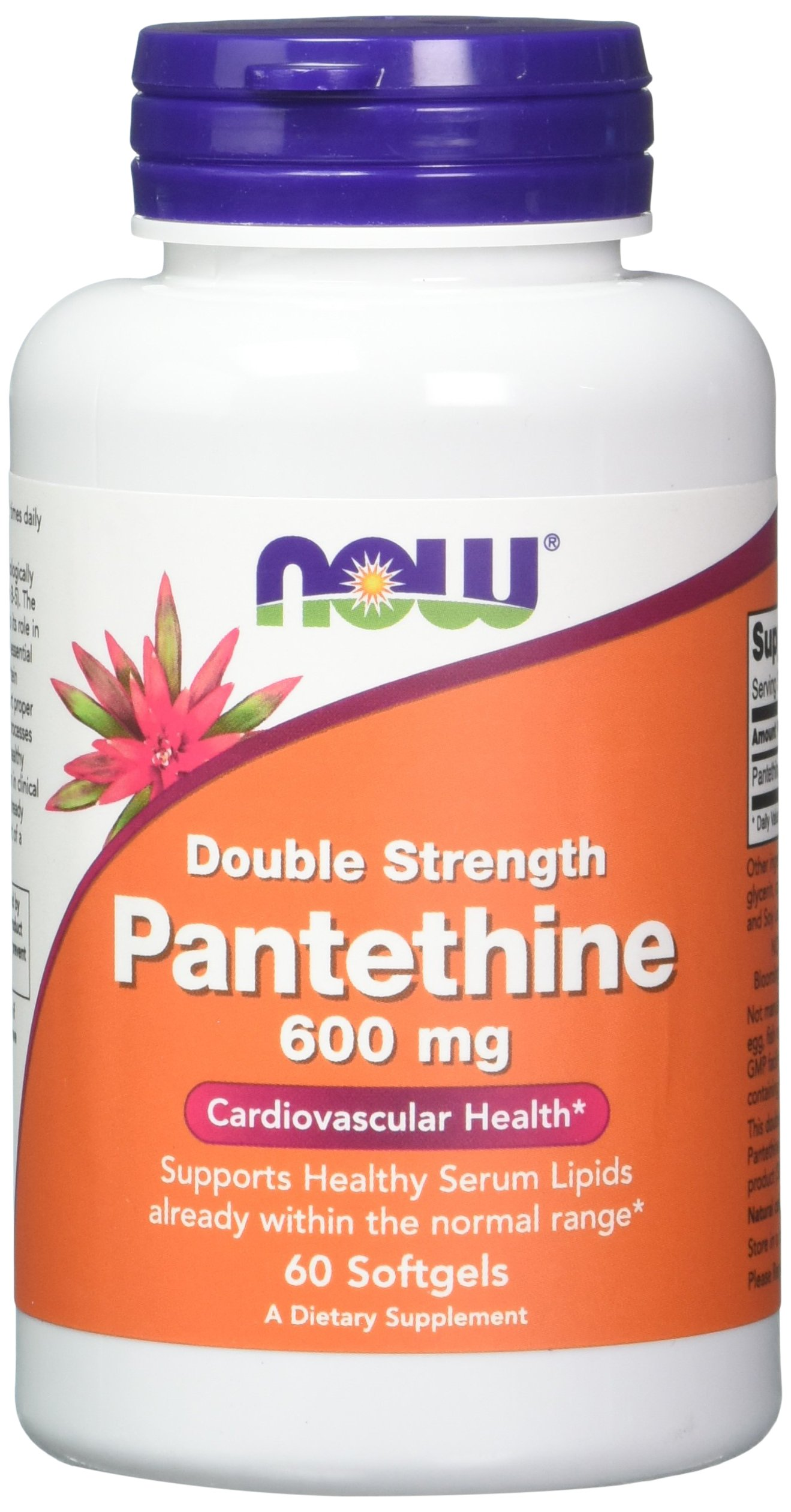 Pantethine, 600 mg 60 Softgels (Pack of 2) by NOW Foods