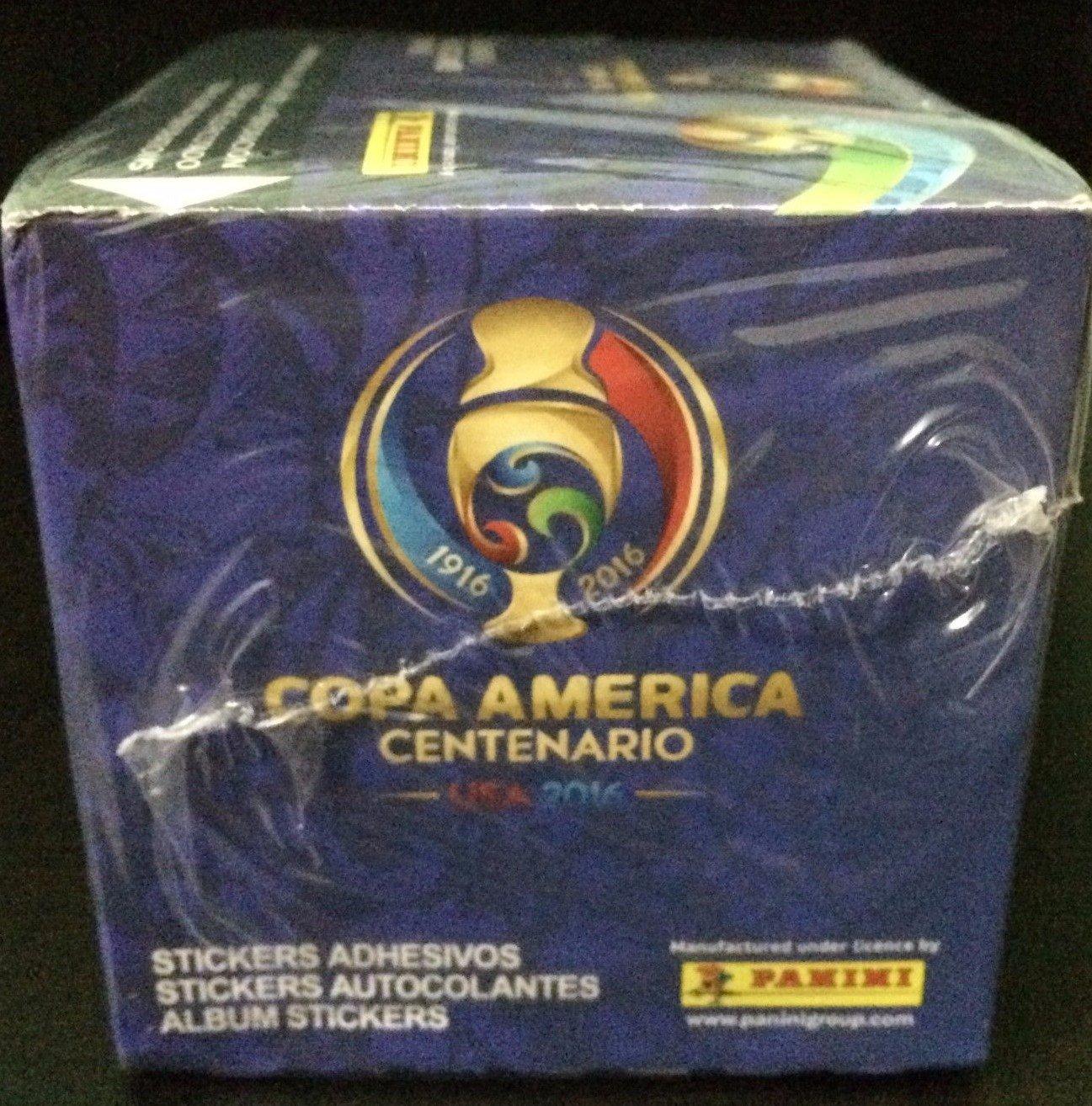 PANINI Copa America Centenario USA 2016 Stickers Box 50 Packs ; 5 stickers per pack total of 250 stickers