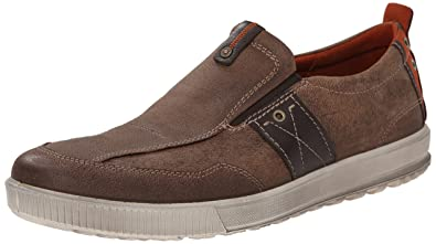 ECCO Men's Ennio Casual Slip-On Loafer, Cocoa Brown/Mocha, 40 EU