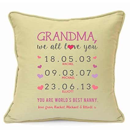 Personalised Presents Gifts For Grandma Grandmother Nanny Granny From Grandson Grandaughter Birthday Mothers Day Christmas Xmas