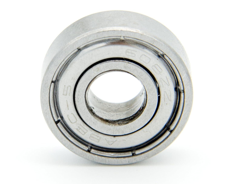 protastic 100/608ZZ 22/x 8/x 7/mm Metall versiegelt einreihig Rillenkugellager