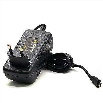 LEICKE Cargador ULL 5V 2,5A 12,5W | Para Raspberry Pi Modell A e B & Banana, Pi 2 Model B/Pi Xero e Pi 3, Pi - Pi Model B+ (B Plus) | Micro USB
