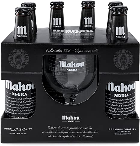 Mahou Negra - Cerveza Botella 330 ml (Pack de 6) Total: 1980 ml: Amazon.es: Alimentación y bebidas