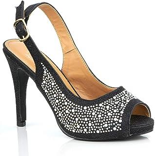 ddb54bc2e10 Lotus Women's Astro Open Toe Heels: Amazon.co.uk: Shoes & Bags