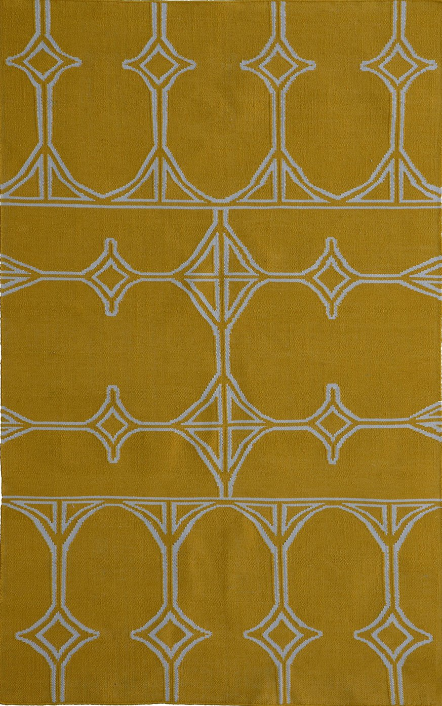 MEVA Thai Indoor/Outdoor Flat Weave Area Rug, 8-Feet by 11-Feet, Yellow by Meva