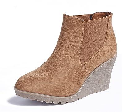 Chelsea Wildleder Ageemi Shoes Damen Boots Stiefeletten u5FKT1Jlc3