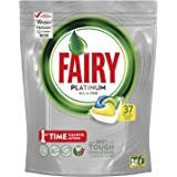 Fairy Platinum All In One Dishwasher Tablets Lemon 37 Pack
