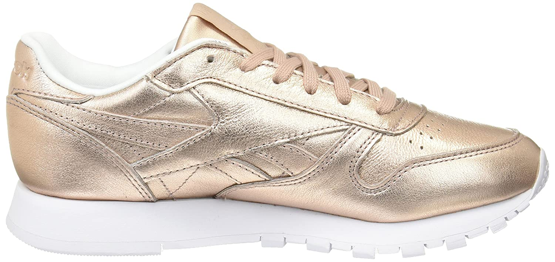 Reebok Classic Leder L, Damen Niedrig-top Sneaker (Pearl Orange (Pearl Sneaker Metallic-peach/Weiß) f36585