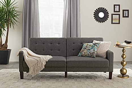 DHP Futon Couch, Paris Gray