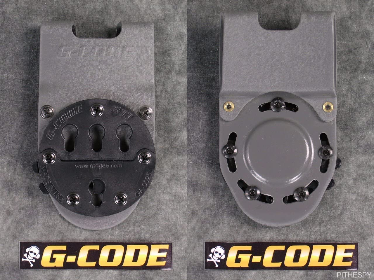 "G-CODE RTI wheel 2/"" belt slide holster adapter mount OD green kydex waist"