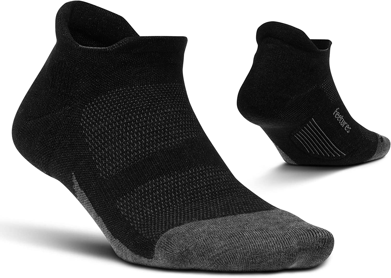 Feetures Unisex Merino 10 Cushion No Show Tab Sock Solid