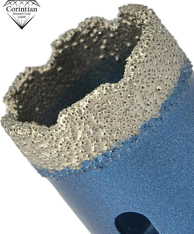 universell einsetzbar trockenbohren Fliesen Bohrkrone Diamant 6 mm Feinsteinzeug - passend f/ür alle Winkelschleifer Steinplatten Marmor uvm Granit Keramik