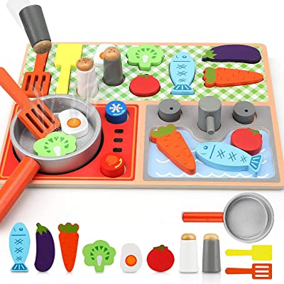 Buy Toy Life Toy Wooden Kitchen Sets For Kids Wooden Puzzles For Toddlers Wooden Play Kitchen Accessories Wooden Play Food Toys For Kids Cooking Montessori Toy Toy Stove