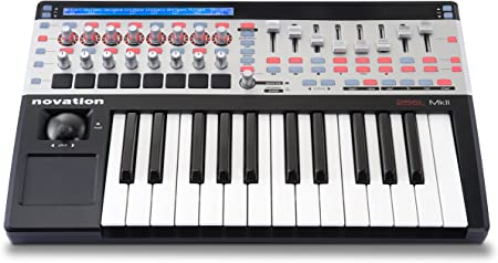 Novation 25SL MkII - Teclado MIDI (USB, 46,8 cm, 29,3 cm, 6,8 cm, 1GHz, 256 MB) Negro, Plata