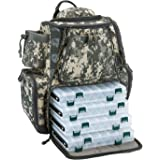 Piscifun Fishing Tackle Backpack with 4 Trays Large Waterproof Tackle Bag Storage with Protective Rain Cover and 4…