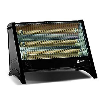 Calefactor Halógeno 3 Tubos, Cuarzo Eléctrica Caldobagno 1800W Radiador de Calefacción: Amazon.es: Hogar