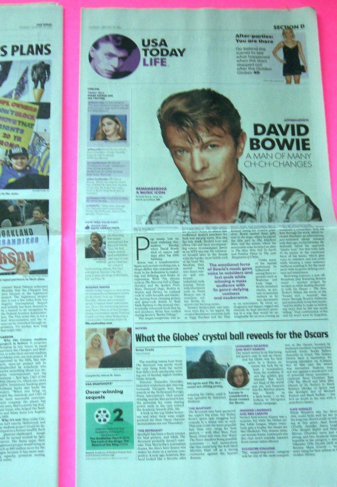 The Death of David Bowie Farewell/Tribute l Johnny Manziel ...