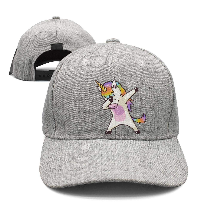 Dabbing Unicorn Pattern Print Adjustable Hip Hop Baseball Cap Visor Adult Baseball Cap