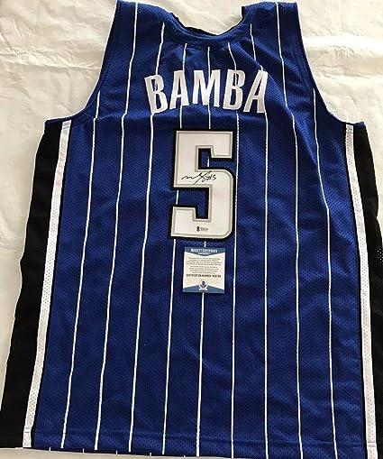 sale retailer db896 12bd6 Mo Bamba Autographed Signed Orlando Magic Jersey Beckett ...