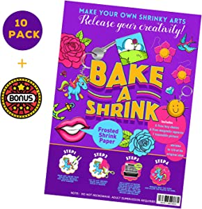 TOP&TOP TOPS IS NOT ENOUGH Frosted Magic Shrinky Sheets to Shrink Arts Free Key Chains/Magnetsd/Shrinkies Paper dinks