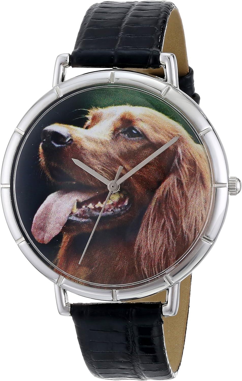 Whimsical Watches T-0130047 - Reloj analógico de Cuarzo Unisex, Correa de Cuero