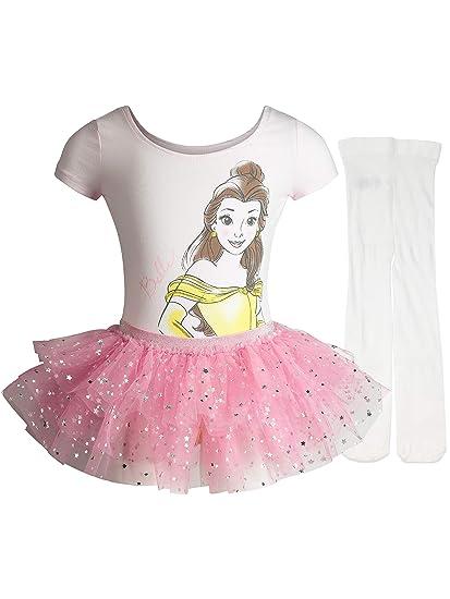 c99b384a26 Disney Princess Toddler Girls' Ballet Belle Pink Leotard Tutu & Tights ...