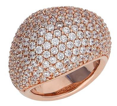 Esprit Women Ring base metal rose gold ESRG02034C