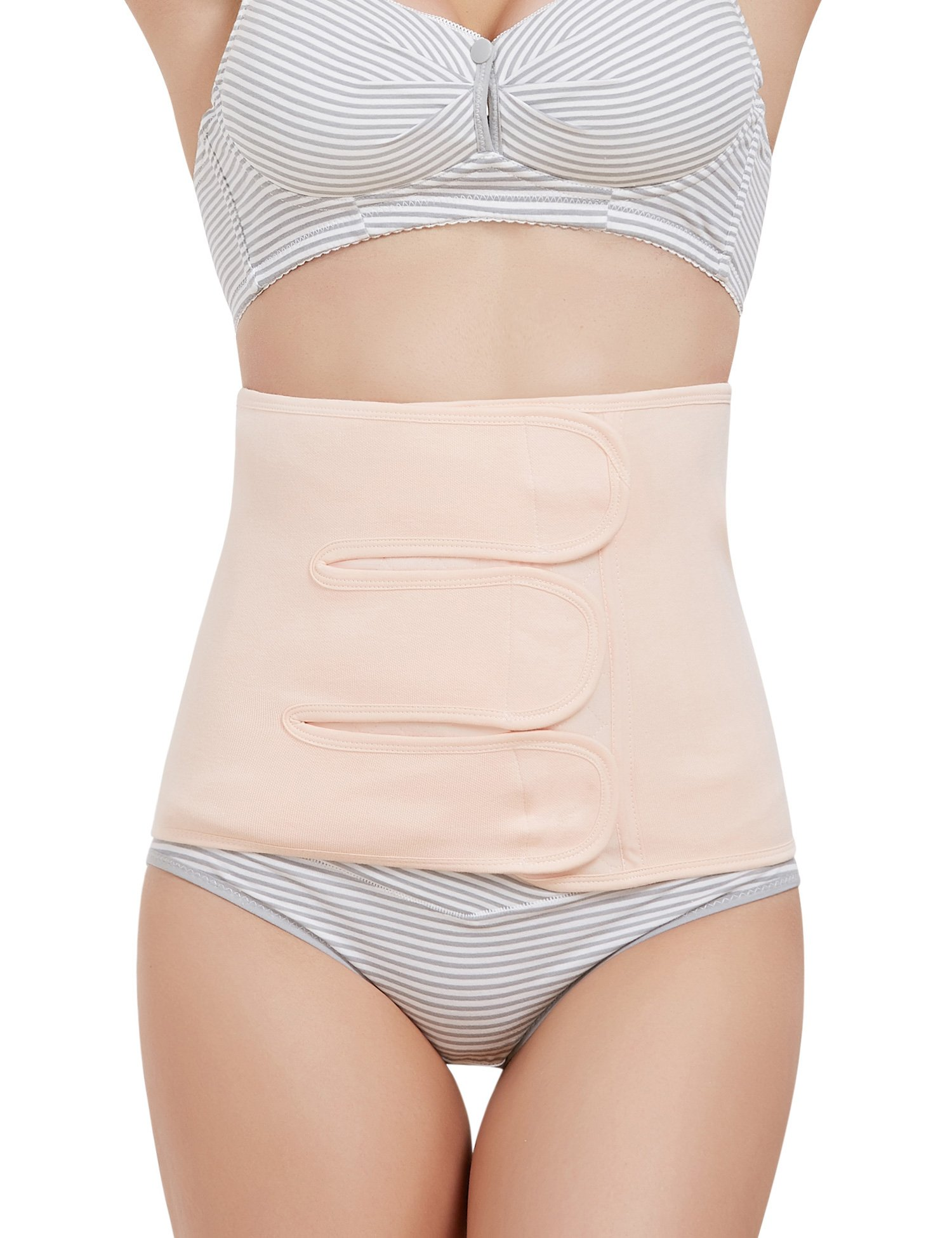 Women Postpartum C-section Recovery Belly Band Wrap Girdle Body Shaper Nude XL