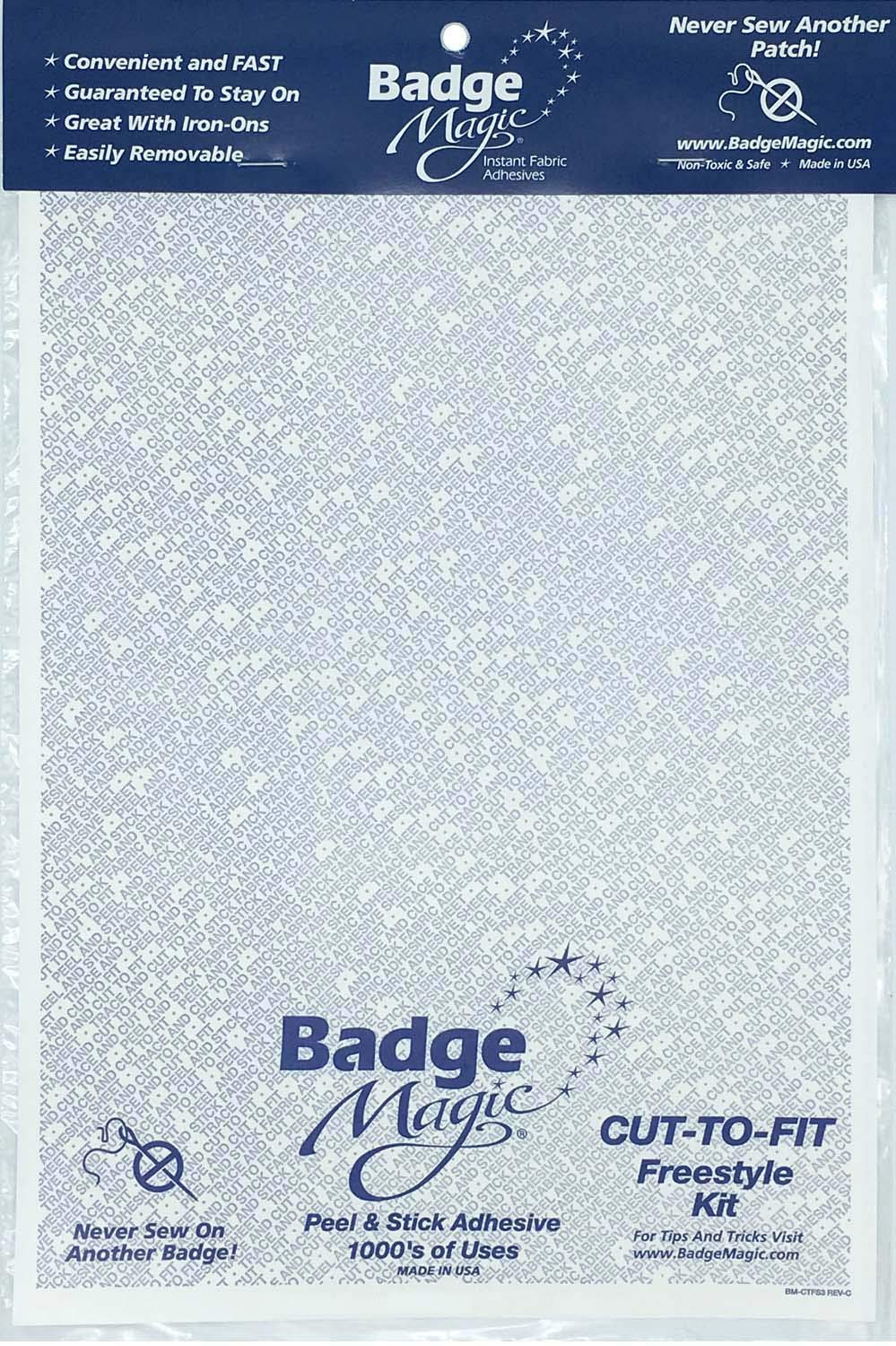 11a26136df3 Amazon.com  Badge Magic Cut to Fit Freestyle Patch Adhesive Kit  Sports    Outdoors