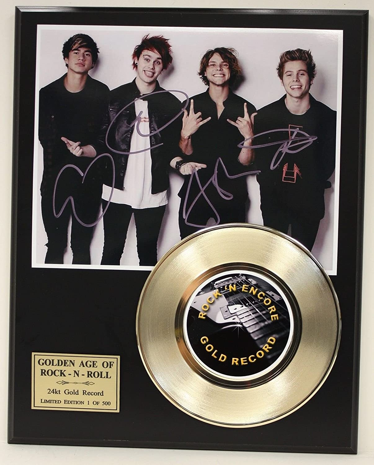 5 SECONDS OF SUMMER GOLD 45 RECORD LTD EDITION SIGNATURE SERIES SHIPS US FREE