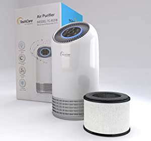 Air Purifier Bedroom Office Use True Hepa Filter [Silent Comfort White Noise] Smart Air Cleaner Smokers Eliminate Allergies Odor Dust Eliminator High Efficiently Carbon Filters [2 Years Warranty]