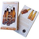 BottleLoft by Strong Like Bull Magnets, the original magnetic bottle hanger, 4 strip pack (hangs 12 bottles)