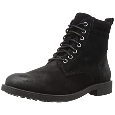 Brand - 206 Collective Men's Denny Lace-up Motorcycle Boot, Black Burnish, 10 D US: Shoes