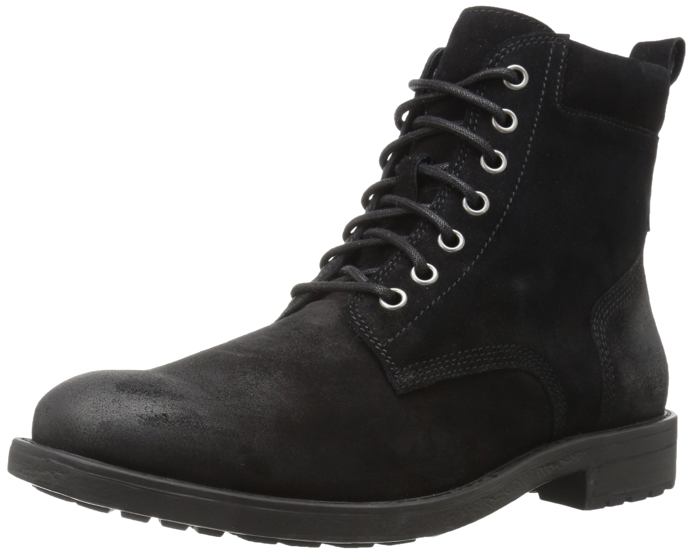 206 Collective Men's Denny Lace-up Motorcycle Boot, Black Burnish, 9.5 D US by 206 Collective (Image #1)
