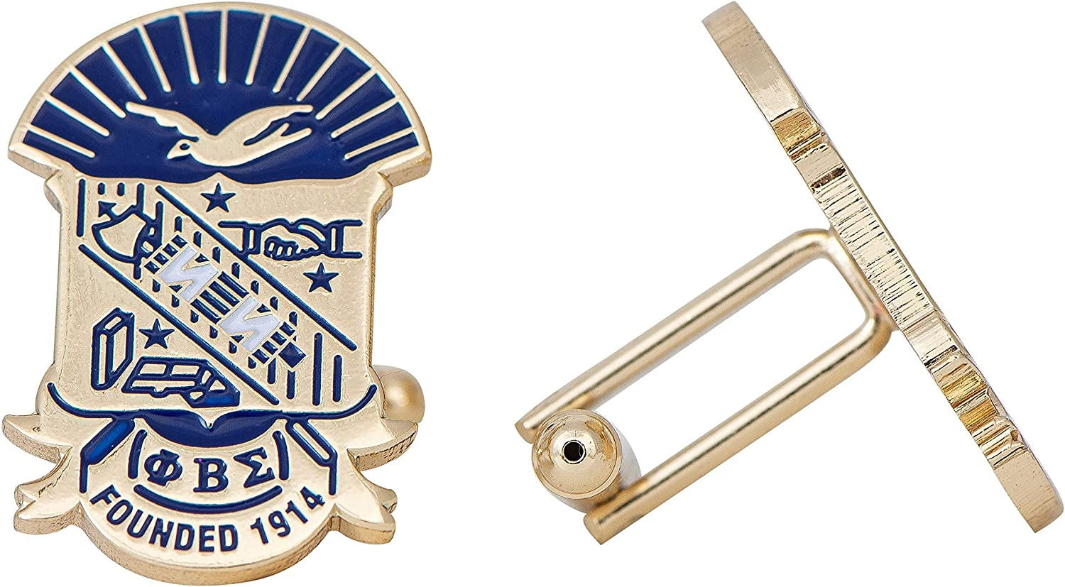Desert Cactus Phi Beta Sigma Fraternity Greek Formal Wear Blazer Jacket (Gold Color Crest Cufflinks)