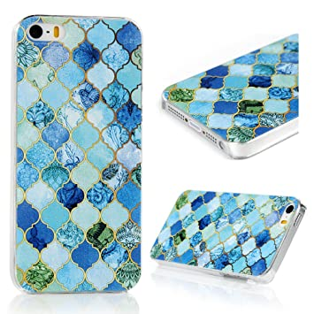 Lanveni Gemalt Blau Diamond Muster PC Hardcase Plastik: Amazon.de ...