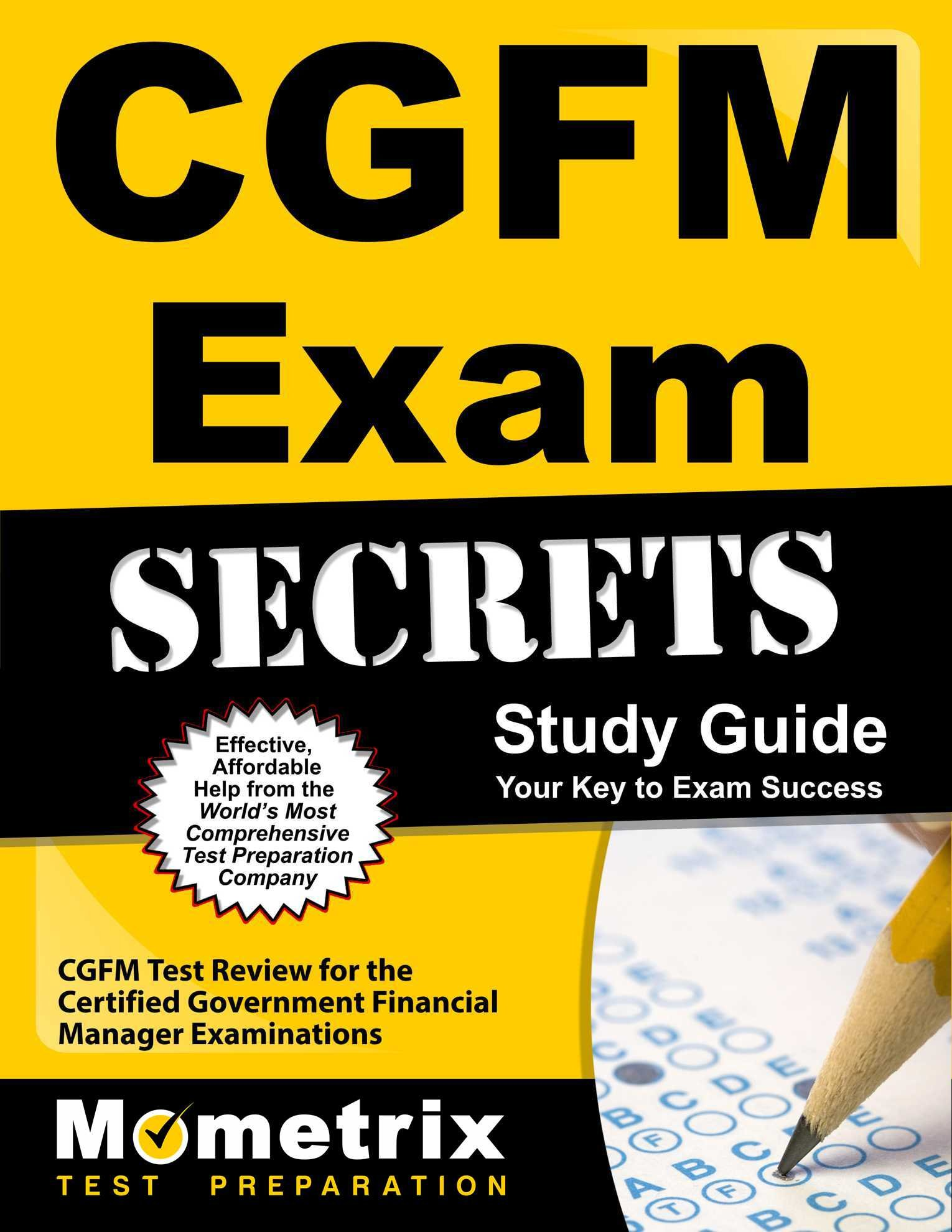 Buy Cgfm Exam Secrets Cgfm Test Review For The Certified Government