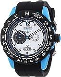 Nautec No Limit Herren-Armbanduhr XL Zero-Yon 2 Chronograph Quarz Kautschuk ZY2 QZ/RBPCBKWH-BL