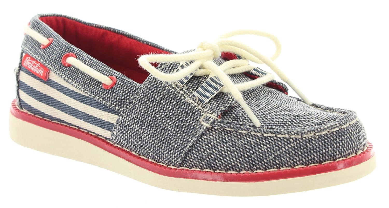 Brakeburn - Zapatos de cordones de tela para mujer, color azul, talla 37