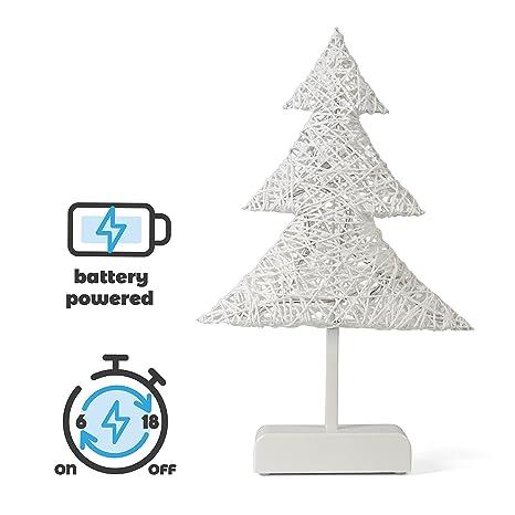 Led Weihnachtsbeleuchtung Kabellos.Snowera Led Dekorationsleuchte Weihnachtsbeleuchtung Kabellos Mit 10 Led S Inkl Batterien In Rattanoptik Form Weihnachtsbaum Weiss