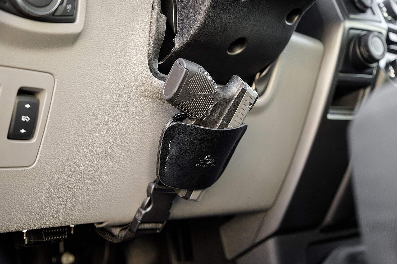 Funda de coche soporte de pistola para camión columna de dirección por CCW táctico - Universal oculta arma mesita de noche o soporte de linterna - fácil de ...