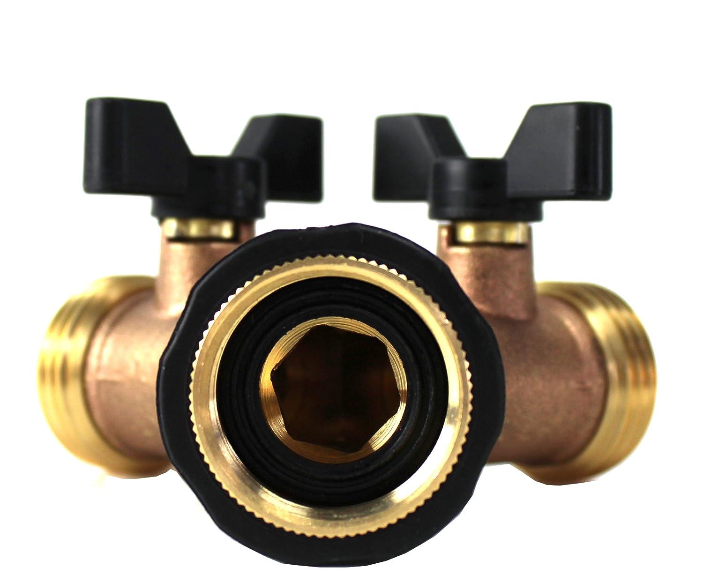 Amazon.com : Kasian House Heavy Duty Brass Garden Hose Splitter, Y ...