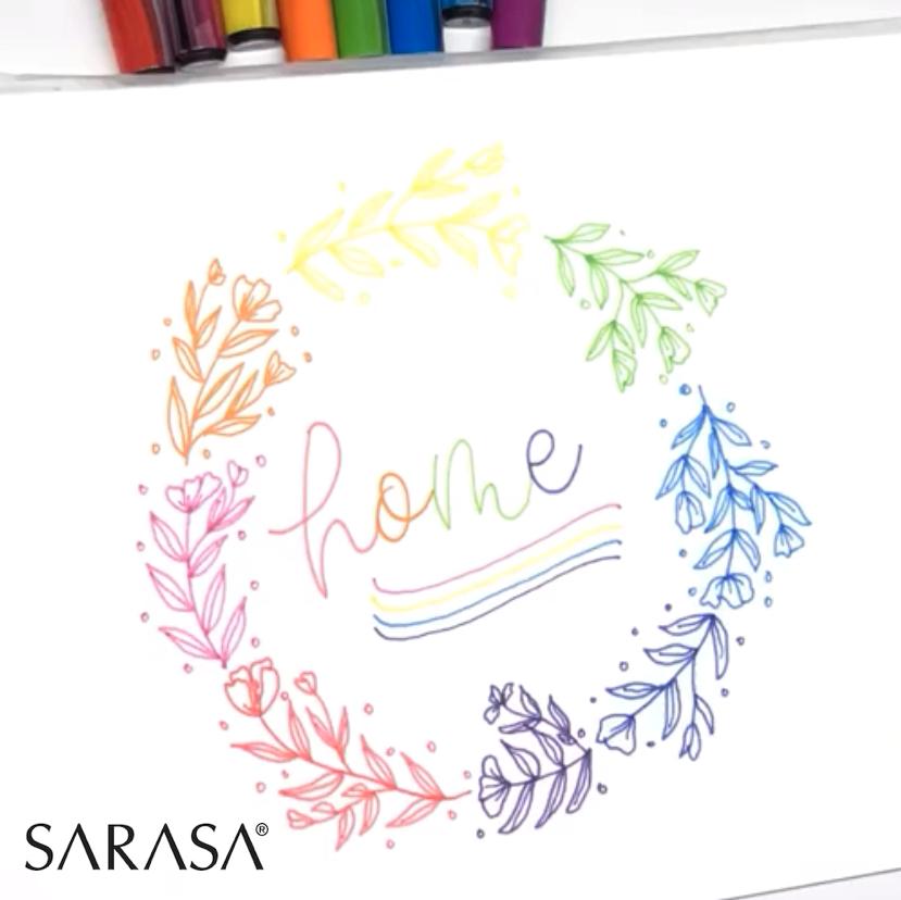 Rotulador Zebra Sarasa Fine Felt, 0.8 mm, colores de tinta surtidos, 10 unidades