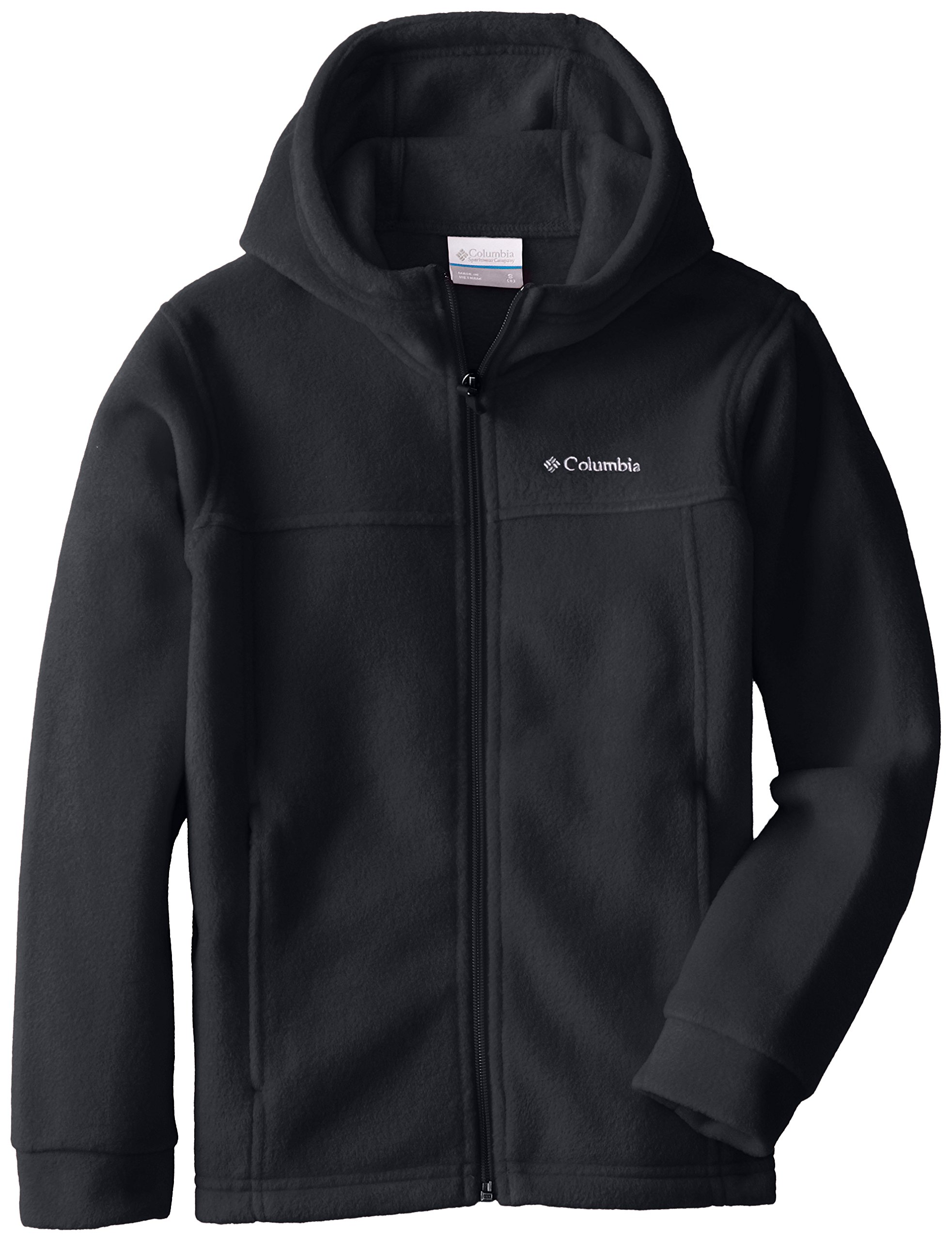 Columbia Big Boys' Steens II Fleece Hoodie, Black, Medium (10/12) by Columbia