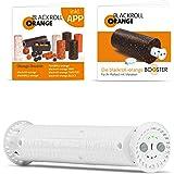 Blackroll Orange (Das Original) Booster, der Vibrationskern für 30 cm Faszienrollen inkl. Übungsbooklets, ideal zum Faszientraining für Bauch Beine Po, Nacken, Rücken, Schulter, Arme und Beine