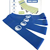 Towel Bands (4 Pack) - The Better Towel Chair Clips Option for Beach, Pool & Cruise Chairs